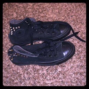 Black Converse Chuck Taylor w/ Spikes